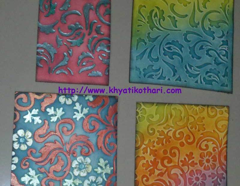 Backgrounds made on Embossed papers Backgrounds