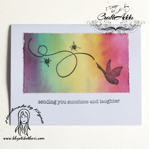 rainbow-sunshine-laughter-handmade-card