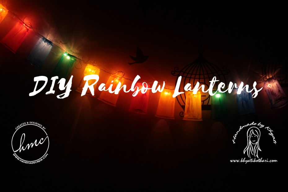 DIY Rainbow lanterns DIY Rainbow lantern coverpage