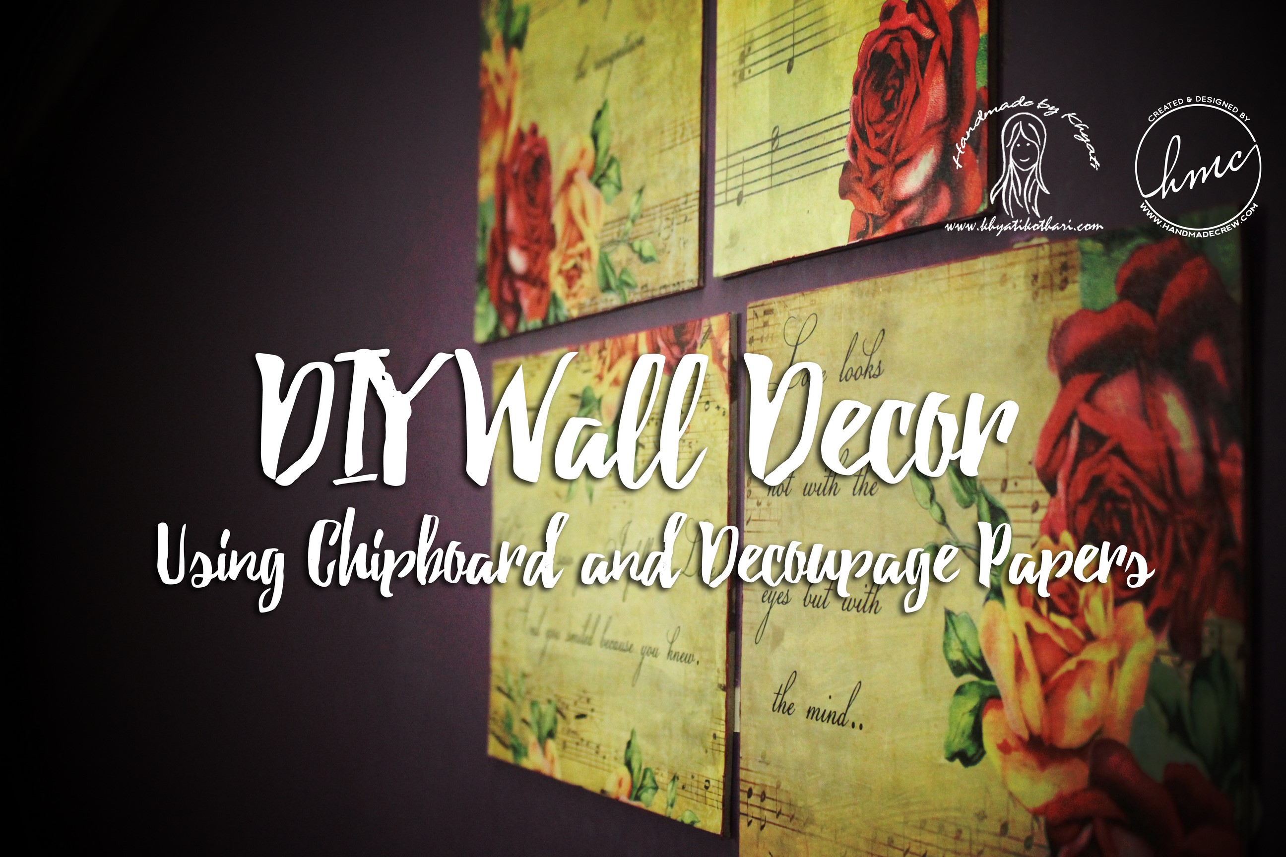 DIY wall decor using decoupage paper with video tutorial » DIY ...