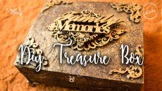 DIY Vintage treasure box cover