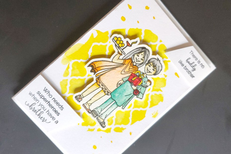 Some rakhi cards using CrafTangles Happy Rakshabandhan stamp HHC 07 HappyRakshabandhan spray