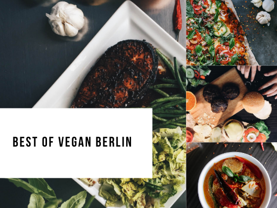 Collage of vegan food from Berlin