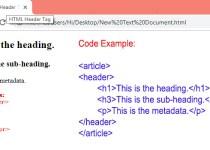 HTML Header Tag