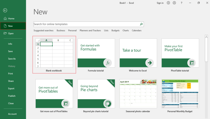 How to Create a New Workbook in Excel
