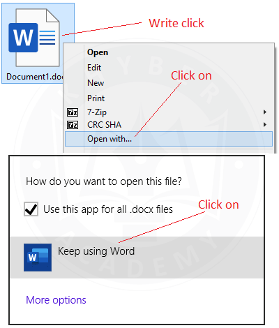 How to open a Word document on computer