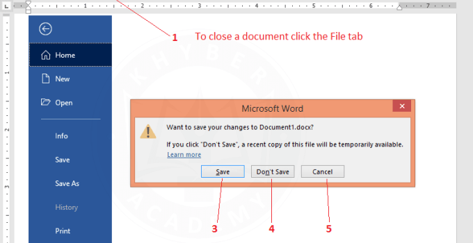 How-to-close-a-word-document