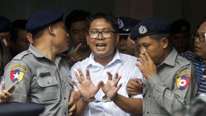 د ميانمار عدالت د رائټرز دوه صحافيانو ته د قيد سزا آورولې