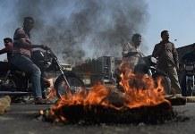 ټول ملک کښې د احتجاج دوران شرخوخو پر ضد کريک ډاون شروع دې