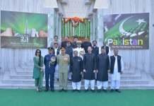 نوي دلي کښې پاکستان هائي کميشن کښې د يوم پاکستان خوندوره دستوره شوي