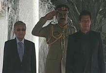 وزير اعظم عمران خان د خپل ملايشين هم منصب تود هرکلې کړې