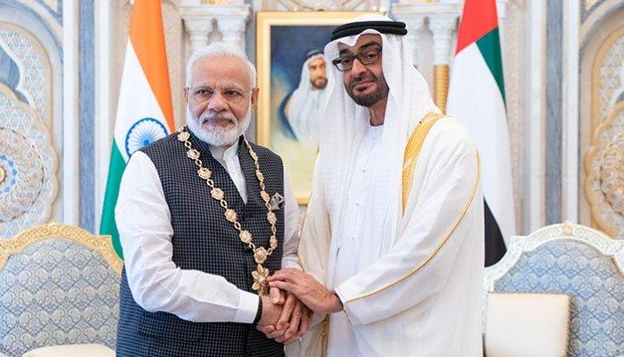 د متحده عرب امارات ولې عهد نريندر مودې ته اعلې ترين سول اعزاز ورکړي