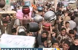 Swat residents protest against unavailibility of pure drinking water and LPG