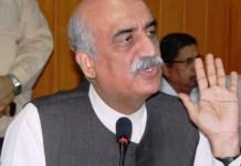Opposition leader Syed Khursheed Shah