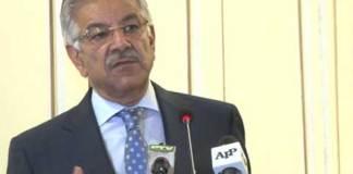 Pakistan's Foreign Minister Khawaja Asif