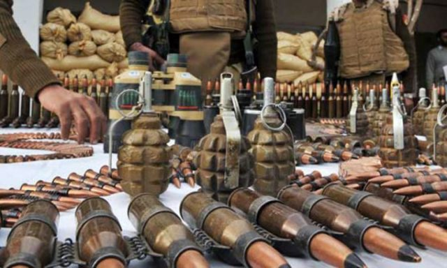 Large cache of weapons, explosives recovered in Balochistan: ISPR