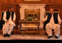 PM Abbasi calls on Nawaz Sharif, discusses political situation