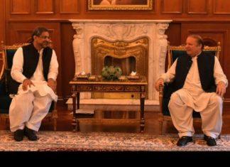 PM Abbasi calls on Nawaz Sharif, discusses political situation