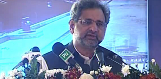 PM Shahid Khaqan Abbasi addressing in Charsadda
