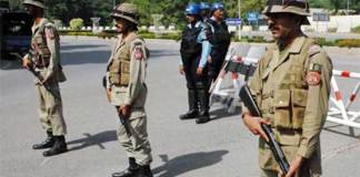 Rangers take control to keep law and order situation under control in Islamabad