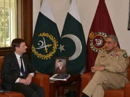 US Ambassador David Hale called on Chief of Army Staff General Qamar Javed Bajwa at GHQ