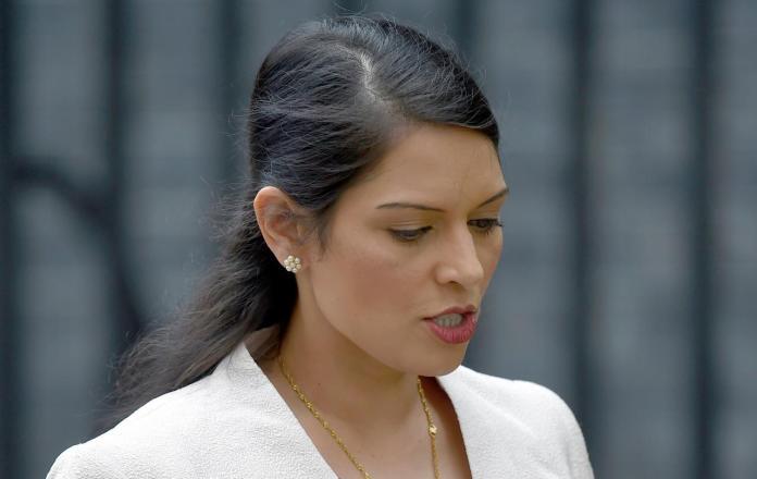 Britain's Employment Minister Priti Patel
