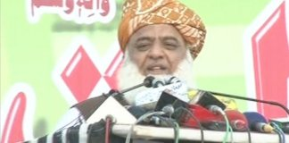 JUI-F chief Maulana Fazlur Rehman addressing