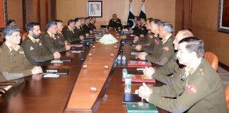 COAS General Qamar Javed Bajwa chairing Corps Commanders Conference