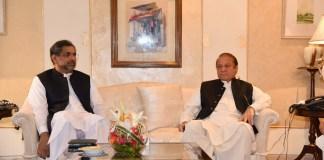 Nawaz Sharif-Khaqan Abbasi meeting in London