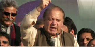 Nawaz Sharif addresses rally in Quetta