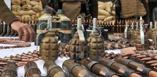 Arms, ammunition recovered in Kohat