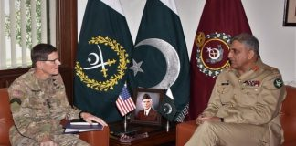 COAS General Qamar Javed Bajwa-US CENTCOM Commander General Joseph L. Votel