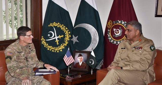 COAS General Qamar Javed Bajwa-US CENTCOM Commander General Joseph L. Votel