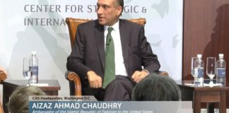 Pak-US partnership essential to achieving objectives of peace: Aizaz Chaudhry