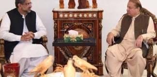 Nawaz Sharif-Khaqan Abbasi meeting