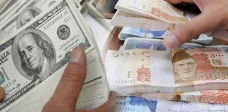 Dollar climbs down to rupees 122.5 in inter-bank market