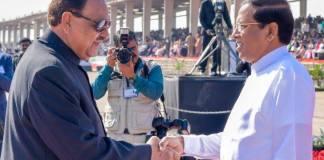 Sri Lankan President leaves for home