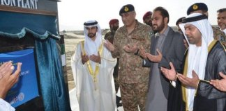 Army Chief lays foundation stone of desalination plant in Gwadar