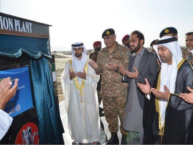Army Chief lays foundation stone of desalination plant in Gwadar