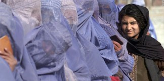Afghan women launch rare protest for peace in Taliban stronghold