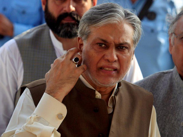 Interior ministry issues red warrant against Ishaq Dar