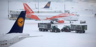 Geneva airport closed by icy 'beast from the east'