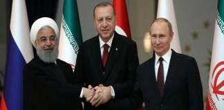 Turkey, Russia, Iran urge 'lasting ceasefire' in Syria