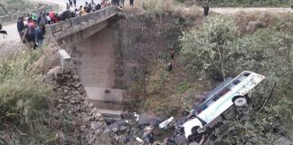 21 killed after vehicle carrying marriage party falls off a bridge