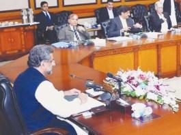 PM Abbasi chairing CCI meeting in Islamabad