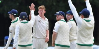 Cricket: Ireland strike twice in two balls for first Test wickets