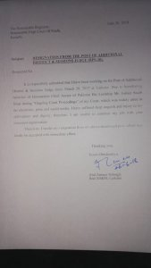 Sessions Judge resigns following 'humiliation' at the hands of CJP