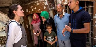 U.N. special envoy Jolie meets Syrian refugees in northern Iraq