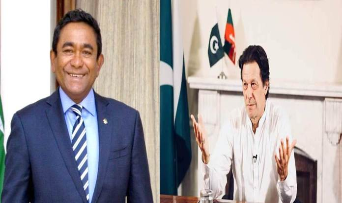 Maldivian President felicitates Imran Khan on his victory