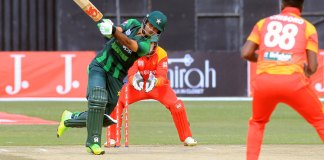 Fakhar's double ton helps Pakistan set 400 runs target for Zimbabwe